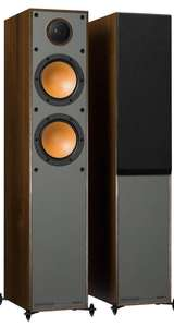Monitor Audio Monitor 200 Floorstanding Speakers in black or walnut for £269.10 at Superfi