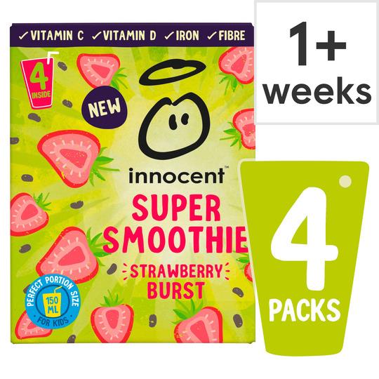 Innocent Super Smoothie Strawberry Burst/Innocent Super Smoothie Mango Fandago 4X 150 ml £2.50 (Minimum Spend / Delivery Fees) @ Tesco