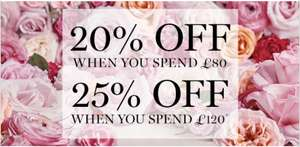 Lancome: 20% off £80 or 25% off £120 Orders