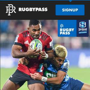Super Rugby Aotearoa - Full-Season pass with access to all 21 matches £34.99 at RugbyPass