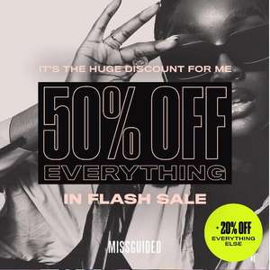 Flash Sale - 50% Off Everything + £3.99 delivery & Free Returns @ Missguided