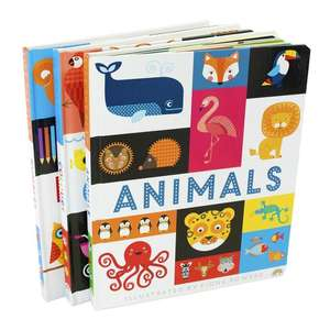 Three Lift the Flap Early Learning Guide Colours, Animals and Numbers board books by Philip Dauncey for £9.99 delivered @ Books2Door