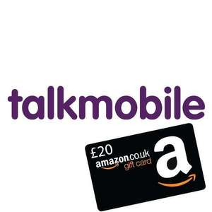 Talkmobile Sim Only - Unlimited Minutes and Texts, 20GB data for £9.95pm + £20 Amazon Voucher (30 day) @ Talkmobile