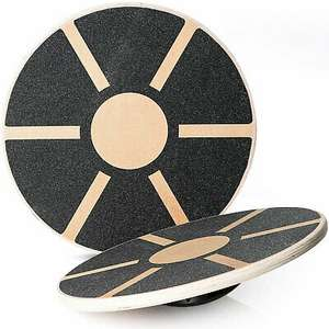 Lions wooden wobble balance board for fitness, yoga and exercise for £12.49 delivered @ eBay / lions-store