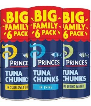 6pk Princes Tinned Tuna Chunks (mix any 2 for £7) @ Farmfoods