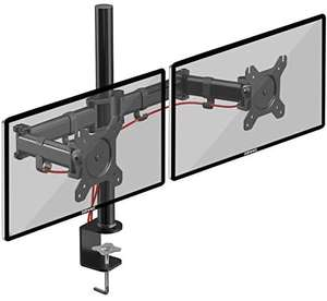Duronic Dual Monitor Arm Stand DM252 | Double PC Desk Mount - £22.99 Sold by Duronic and Fulfilled by Amazon