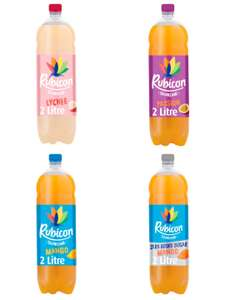 Rubicon sparkling lychee/passion fruit/mango/mango zero added sugar 2lt Juice Drink £1 (+ Delivery Charge / Min Spend Applies) @ Morrisons