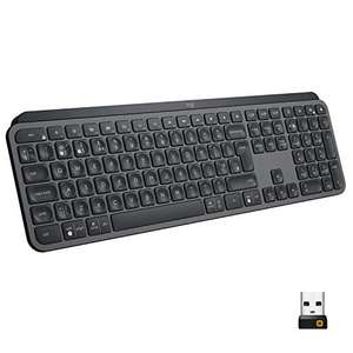 Logitech MX Keys Advanced Illuminated Wireless Keyboard, Backlit Keys, Graphite Black - £81.99 @ Amazon