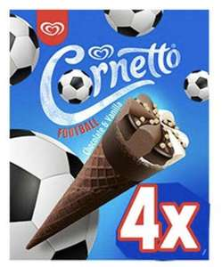 Cornetto Chocolate and Vanilla Football Cones 79p at FarmFoods Blackwood