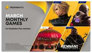 PlayStation Plus for March - Final Fantasy VII Remake / FarPoint / Maquette and Remnant From the Ashes