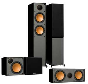 Monitor Audio Monitor 200 5.0 Home Cinema Speaker System - black or walnut - £449.10 delivered using code at Superfi