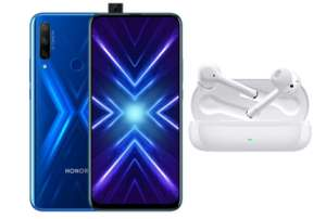 Honor 9x 128GB Smartphone (With Google) + Free Honor Magic Buds Headphones - £149.99 With Code @ Honor UK