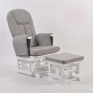 Mothercare Recliner Nursing Chair and Footstool Grey £119.70 @ Kub Direct