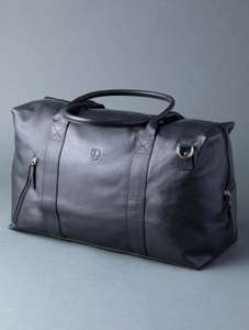 Lakeland Classic Real Leather Holdall in Black - £69 / £55.20 with code delivered @ Lakeland Leather