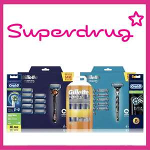 Save On Saturday - Better Than Half Price Gillette Razors/Blades/Shaving Gel - Delivery £3 / Free Over £10 for members @ Superdrug