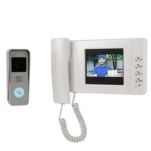 Blyss Wired - 2 wires Video intercom system Silver & white - £62 delivered @ B&Q
