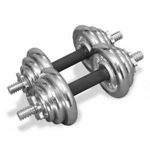 Body Power 20kg Chrome Spinlock Dumbbell Weight Set - £79.99 / £87.94 delivered @ fitness-superstore