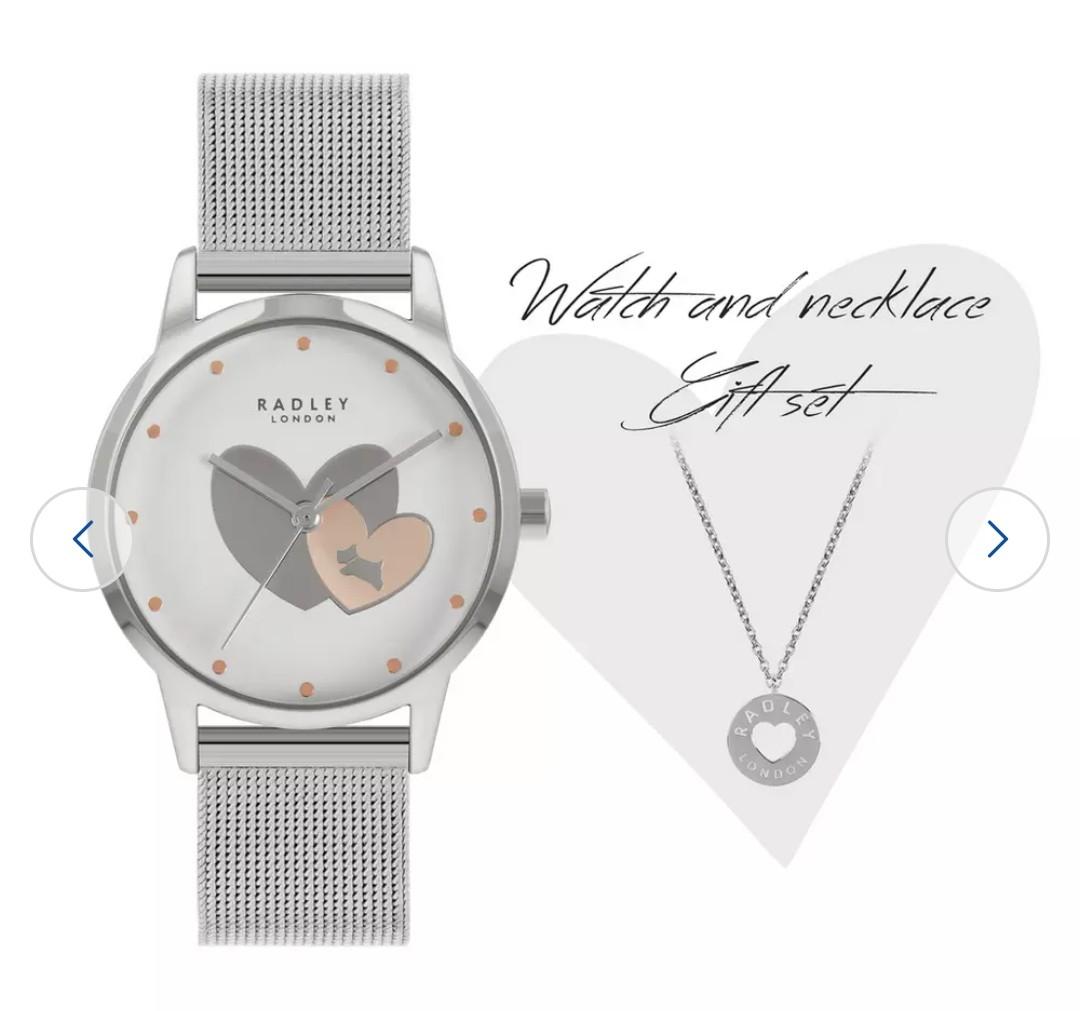 Radley Ladies Mesh Silver Strap Watch and Necklace Set £59.99 + £3.95 delivery @ Argos