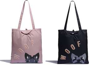 Radley London Woof Pink or Black Foldaway Tote Bag - £8 (+£4.49 Non-Prime) - Sold by Radley / Fulfilled by Amazon