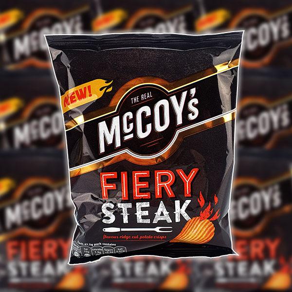 26 x The Real McCoy's Fiery Steak Crisps (47.5g Packs) - £9 Delivered @ Yankee Bundles