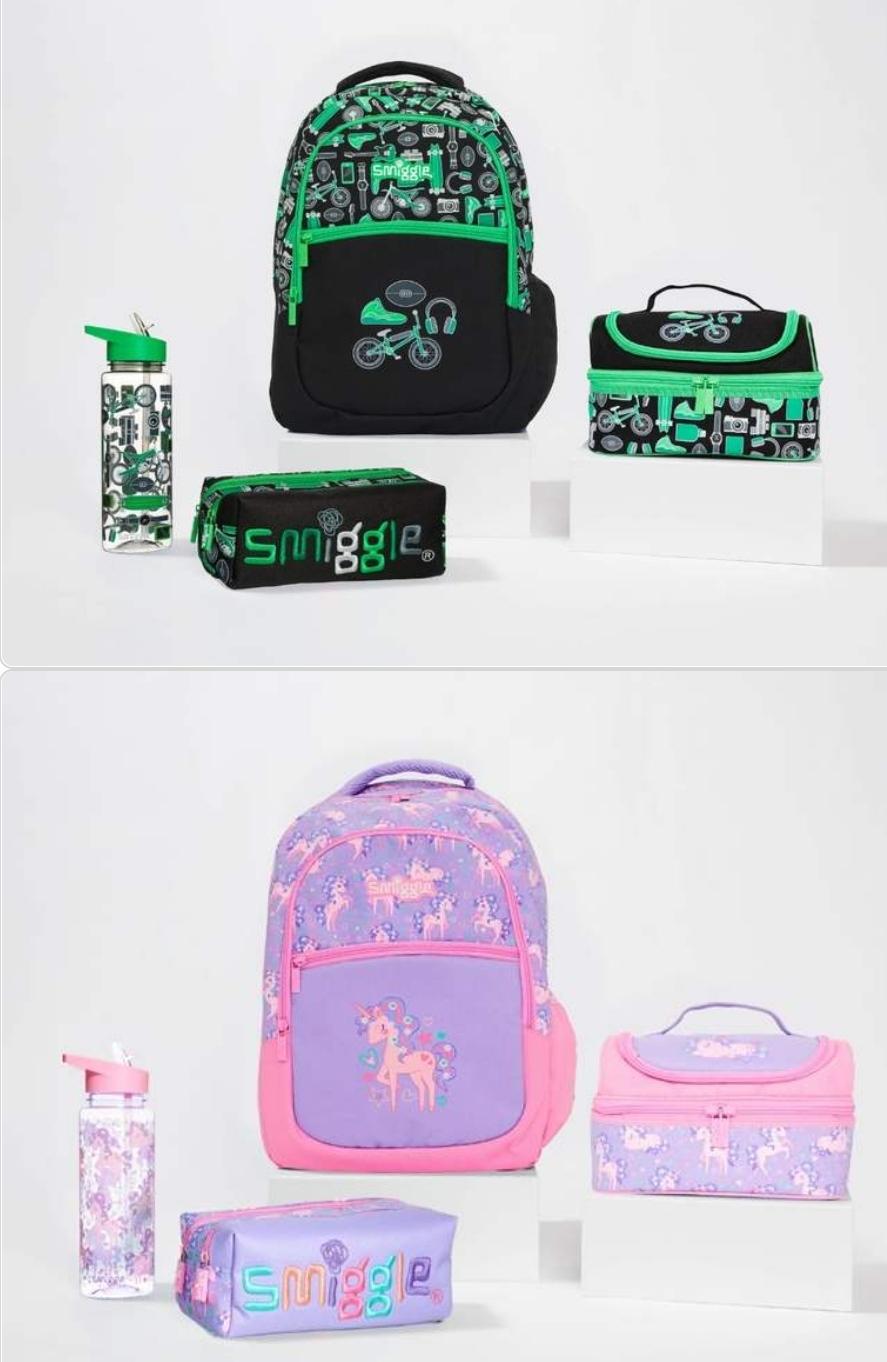 Smiggle Jump School Gift Bundle, Backpack, Lunchbox, Drink Bottle, Pencil Case Now £30 Free delivery (5 designs) @ Smiggle