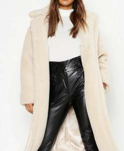 Oversized Teddy Faux Fur Coat - £42.50 (+£3.99 Delivery) @ Boohoo