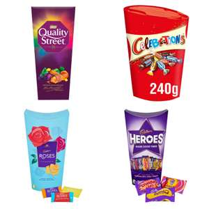 Quality Street 240g / Cadbury Roses 290g / Celebrations 240g / Cadbury Heroes 290g - £2 (Clubcard, Min Spend / Delivery Fee Applies) @ Tesco
