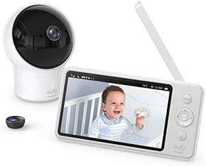 "eufy Security Video Baby Monitor 720p HD 5"" 110° Wide-Angle Lens NIght Vision - £94.99 Sold by AnkerDirect and Fulfilled by Amazon"