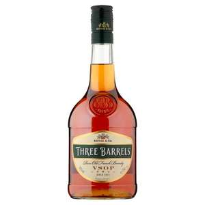 Three Barrels Brandy 70Cl £13 club card price @ Tesco (+ Delivery Charge / Minimum Spend Applies)