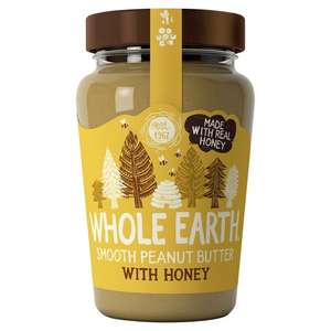 Whole Earth Smooth Peanut Butter with Honey 340g - 30p at Asda Birmingham
