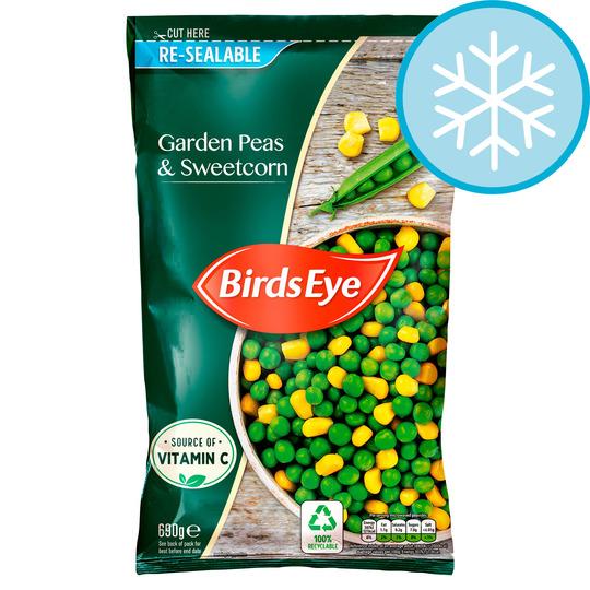 Tesco Birds Eye Garden Peas & Sweetcorn 690G £1.75 Clubcard price (+ Delivery Charge / Minimum Spend Applies)