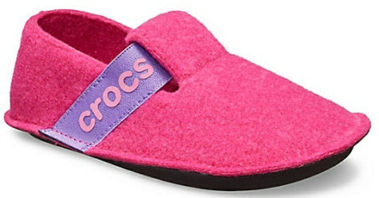 Girls' Classic pink Crocs Slipper £15.99 delivered @ Crocs UK (use code)