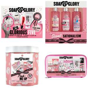 Soap & Glory sets (Glamorous Five, Scentsationalism, Pink Mini, Travel Bag) from £6.67 + £3.50 Del/Free with £30 @ Boots