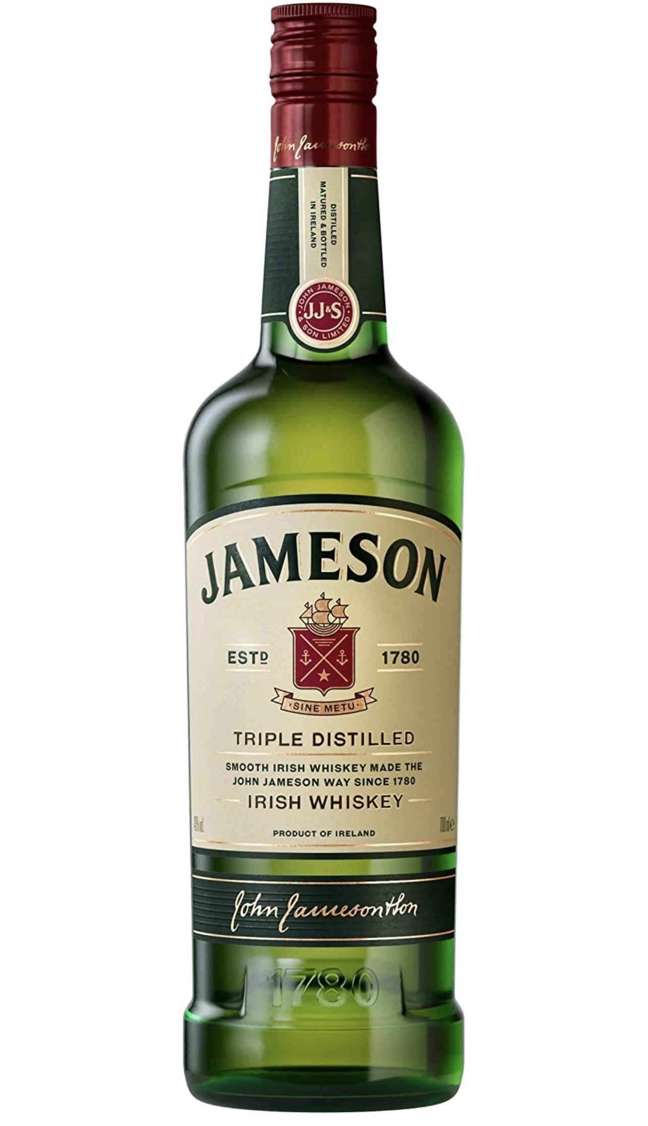 Jameson Amazon - Original Blended & Triple Distilled Irish Whiskey, 70cl £15 Amazon Prime / £19.49 Non Prime