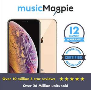 iPhone XS Max - Good, 64GB, Unlocked, Gold or Silver - £299.69 @ Music Magpie eBay