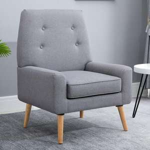 Nordic Cushion Padded Chair Wooden Armchair - £79.04 [Nectar Card Holders Only] / £83.69 Without Nectar Using Code @ eBay / mhstarukltd