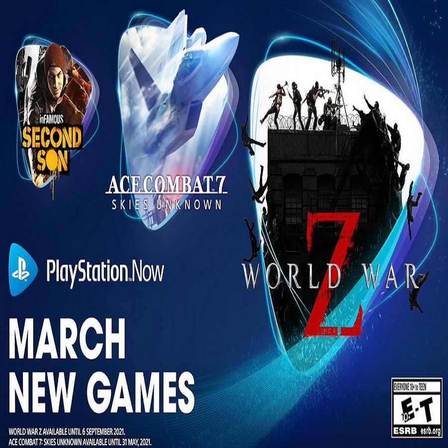 PS Now (March 2021) - Ace Combat 7, World War Z, Infamous Second Son, Superhot