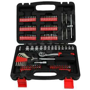 Easigear 130pc Socket Tool Kit Screwdriver Bits Set With Ratchet and Spanner Handle DIY £19.99 easigear ebay