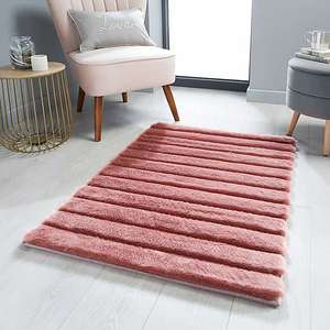 Carved Faux Fur Rug £6.25 + £3.95 delivery At Dunelm