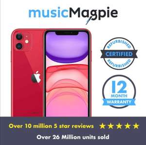 iPhone 11 - Red or White - 64GB - Good condition Refurb - Unlocked £381.99 Nectar holders / £388.79 without Music magpie eBay