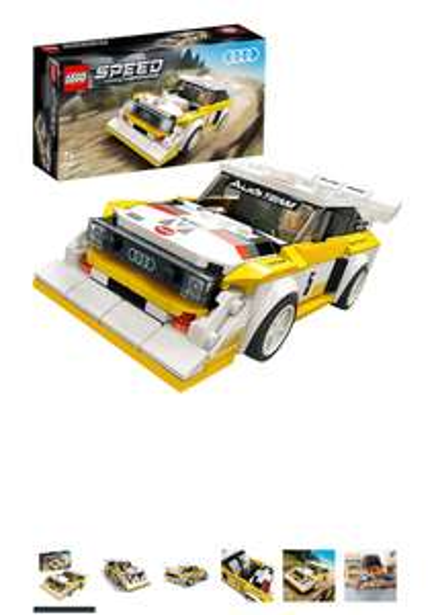 LEGO 76897 Speed Champions Audi Sport quattro S1 Racer Toy with Minifigure Sets £12.84 prime / £17.33 non prime @ Amazon EU (UK mainland)