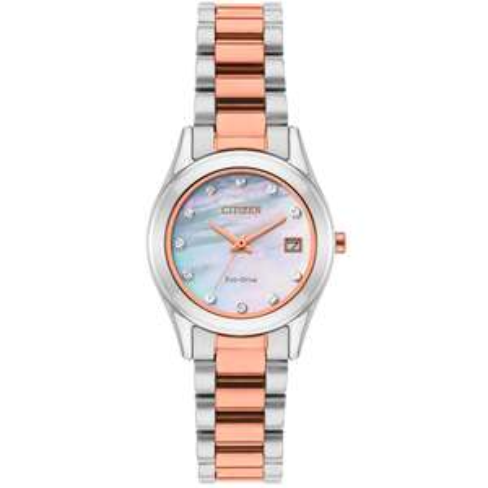 Citizen Eco-Drive Swarovski Ladies' Two-Tone Bracelet Watch + extra 20% with code £71.19 @ H Samuel