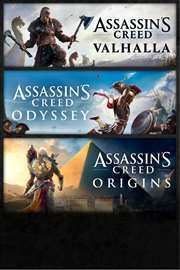 [Xbox One & Series X|S] Triple Pack Assassin's Creed: Valhalla + Odyssey + Origins at £29.61 & more Ubisoft games @ Microsoft Brazil Store