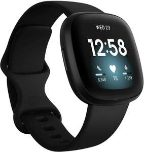 Fitbit Versa 3 Health & Fitness Smartwatch with GPS, 24/7 Heart Rate, Voice Assistant & up to 6+ Days Battery - £169 @ Amazon