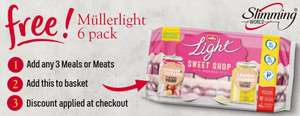 FREE Mullerlight Slimming World 6 Pack with any 3 Slimming World Meals or Meats (Minimum Basket / Delivery Charge Applies) at Iceland