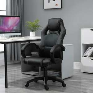 HOMCOM Office Racing Chair Gaming Swivel PU Leather Computer Seat Home Office £68.84 Nectar card holders / £72.89 without ebay mhstarukltd