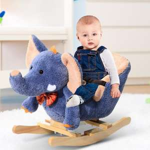 HOMCOM Rocking Elephant With Safety Strap & Music £40.79 [Nectar Card Holders Only] / £43.19 Without Nectar @ eBay / mhstarukltd