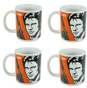 Disney Star Wars Han Solo and Princess Leia Mug in Box (4 Pack) for £9.95 delivered @ TopToys2U