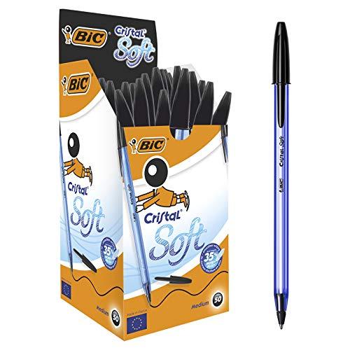 BIC Cristal Soft Ballpoint Pens Non-Retractable Black Box of 50 £7.13 (Prime) + £4.49 (non Prime) at Amazon