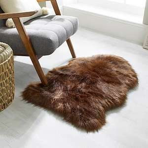 Luxury Single Pelt Faux Fur Rug £9 + £3.95 delivery @ Dunhelm